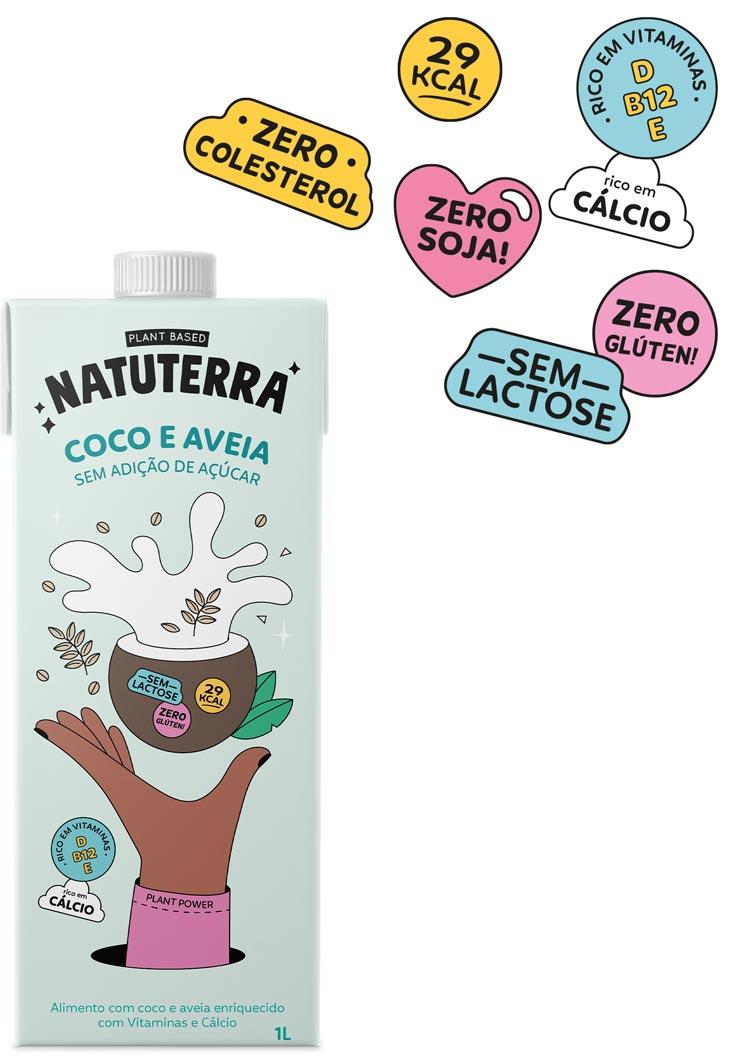 Leite de Coco e Aveia 1L - Natuterra