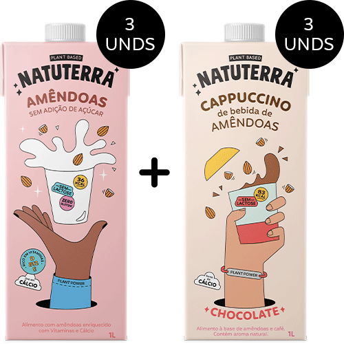 Amêndoas * 3 e Cappuccinos Chocolate * 3